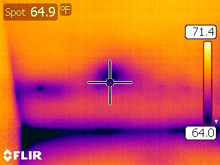 Moisture found in Mesa Infrared home inspection